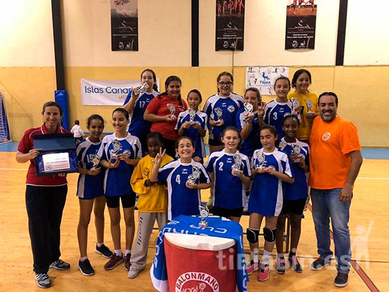 El Ayuntamiento de Pájara felicita al Balonmano Morro Jable V.C alevín femenino, campeón de liga