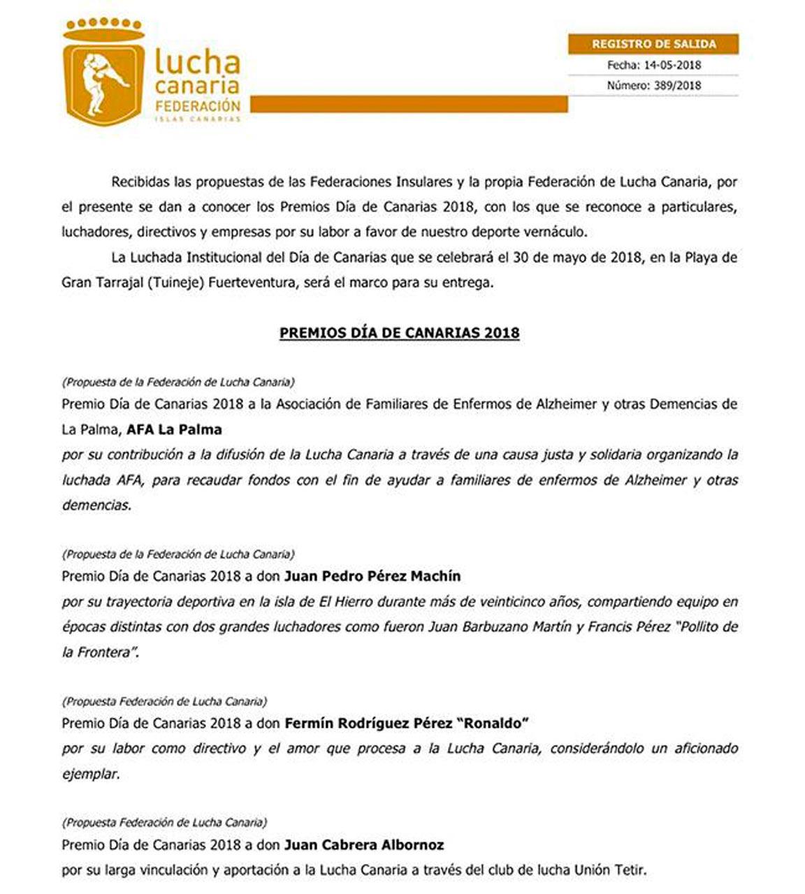 Premios Día de Canarias