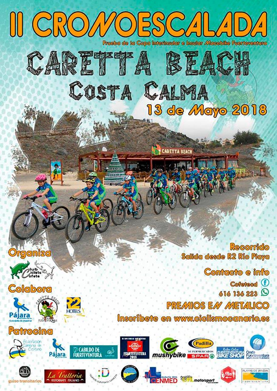 Más de cien ciclistas participan este domingo, 13 de mayo, en la II Cronoescalada Caretta Beach Costa Calma