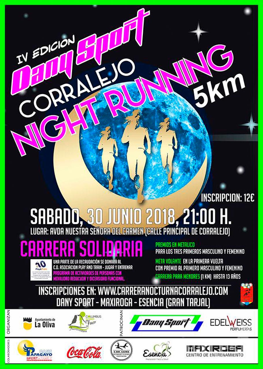 La carrera nocturna Corralejo Night Run se celebra la noche del sábado 30 de junio